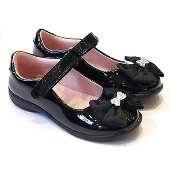 Lelli Kelly Girls Black Patent Leather School Shoes With Changeable Clips | Lelli Kelly Priscilla LK8316