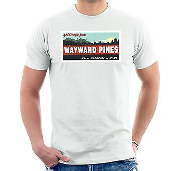 Hvor paradis er Home egensindige fyrretræer mænd T-Shirt