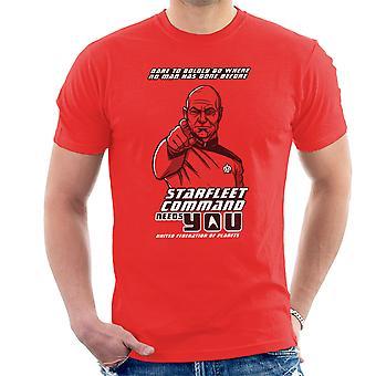 Starfleet Command Needs You Star Trek The Next Generation Men's T-Shirt