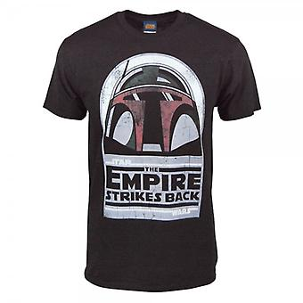 Star Wars Mens Star Wars Boba Fett Helmet T Shirt Black