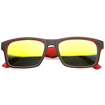 Mens Sport Sunglasses With UV400 Protected Mirrored Lens