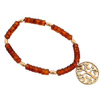Ambers ladies bracelet amber tree of life brown yellow amber bracelet