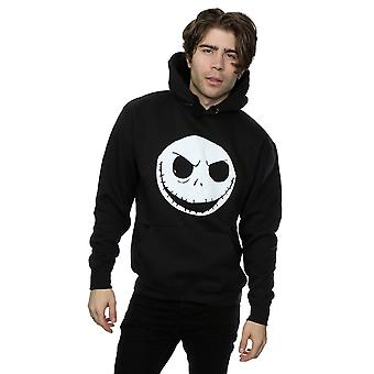 Disney Men's Nightmare Before Christmas Jack Skellington Face Hoodie