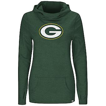 Majestic GREAT PLAY Jersey Hoody - Green Bay Packers Green