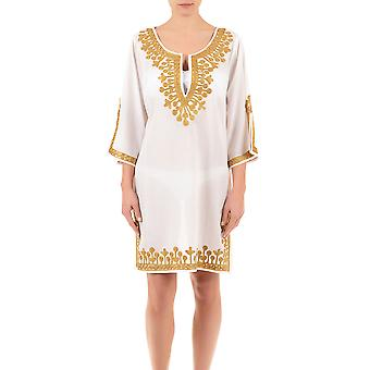 Iconique IC7-095 hvitt og gull brodert Kaftan