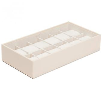 Wolf Designs Cream 12 Piece Watch Tray