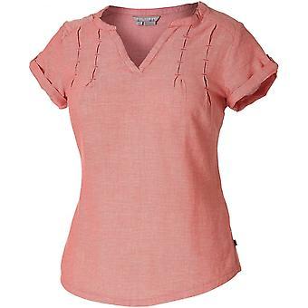 Royal Robbins Women's Cool Mesh S/S Shirt - Dark Coral