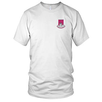 US Army - 387th Engineer Battalion Embroidered Patch - Mens T Shirt