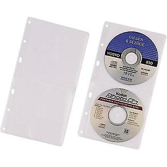 Durable CD/DVD sleeve for ring binder 5x-Set 5203-19 Transparent 2 CDs/D