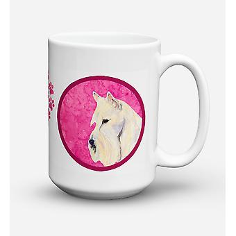 Skotsk Terrier diskmaskin säkra mikrovågssäker keramisk kaffe Mugg 15 uns SS480