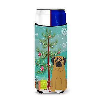 Merry Christmas Tree Mastiff Michelob Ultra Hugger for slim cans