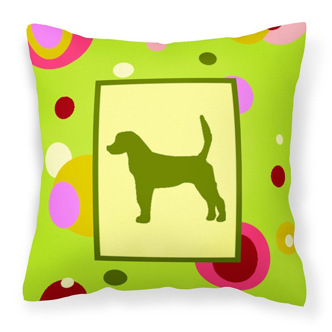 Points Lime Anglais Tissu Foxhound Oreiller Décoratif Vert uTPZOkXi