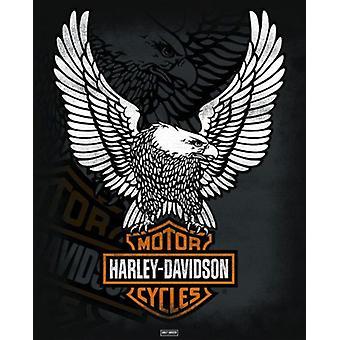 Harley Davidson - Eagle Poster Poster Print