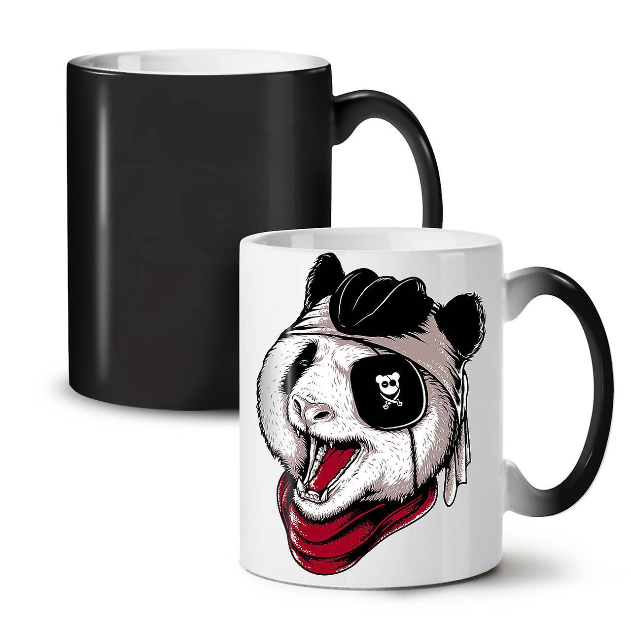 Changeant Tasse Couleur Thé Céramique Nouveau 11 Animaux Pirate De Café OzWellcoda Mal Panda Noir srhdCtQ