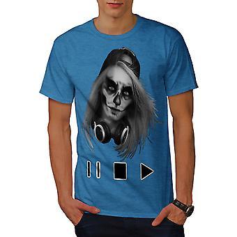 Schädel beängstigend Spiel Musik Männer Royal BlueT-Hemd | Wellcoda