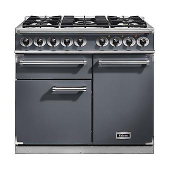 FALCON F1000DXDFSL/NG 1000 DELUXE Dual Fuel Range Cooker, SLate. Nicke