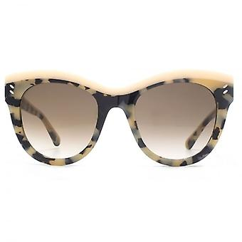 Stella McCartney Iconic Two Tone Contrast Cateye Sunglasses In Havana Pink