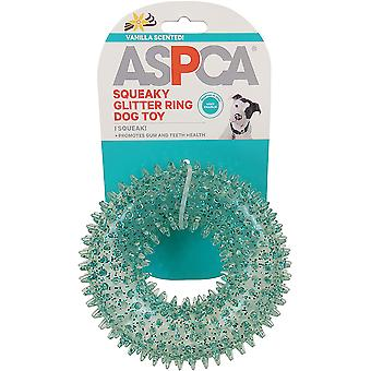 ASPCA Squeaky Glitter Ring Dog Toy-Blue AS11141-BLUE