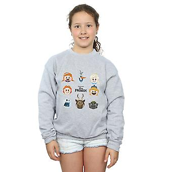 Disney Girls Frozen Emoji Heads Sweatshirt
