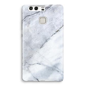 Huawei P9 fuld udskrive sag - marmor hvid