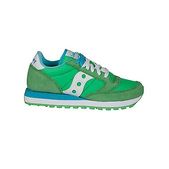 Saucony ladies 1044306 green suede of sneakers