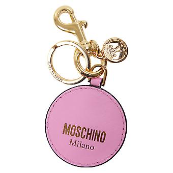 Moschino ladies 85128001A0239 pink leather keychain