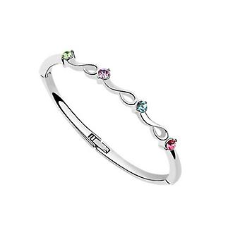 Piedras de cristal pulsera brazalete arcoiris Multi color
