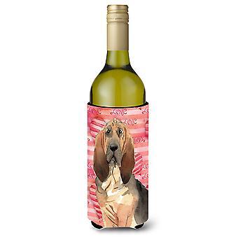Amor una botella de vino de Bloodhound Beverge aislador Hugger