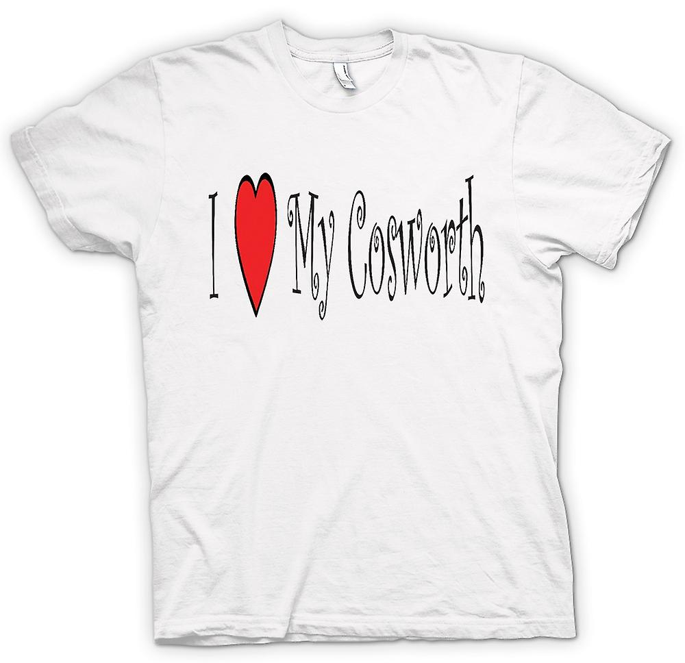 Womens T-shirt - I Love My Cosworth - Fun Car