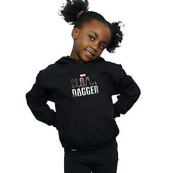 Marvel Girls Cloak And Dagger Logo Hoodie
