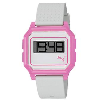 PUMA watch bracelet watch ladies flat screen white pink PU910951006