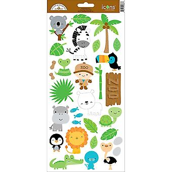 At The Zoo Cardstock Stickers 6