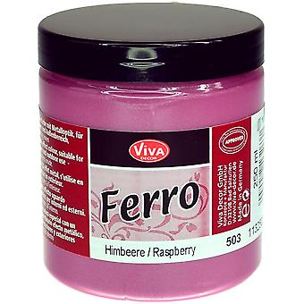 Ferro Metal Effect Textured Paint 3oz-Raspberry
