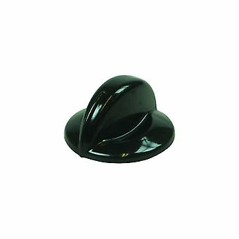 Indesit 6 mm Black Hob Control Knob