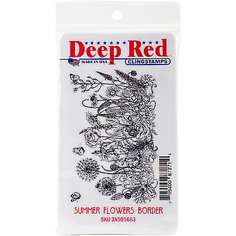 Deep Red Cling Stamp 3.2
