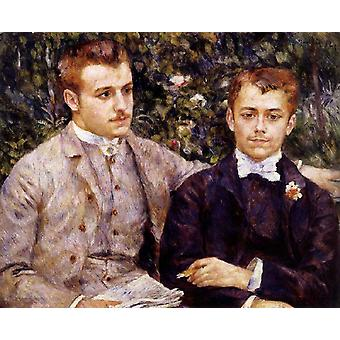 Charles and Georges Durand-Ruel, Pierre Renoir, 65x81cm