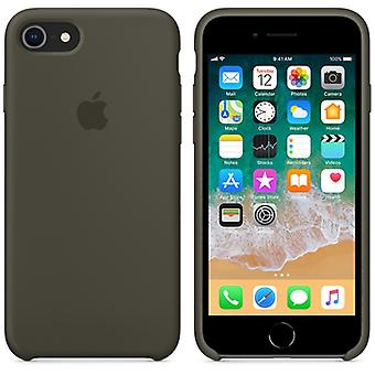 Original packaging Apple silicone Micro Fiber cover case for iPhone 8 / 7 - olive green