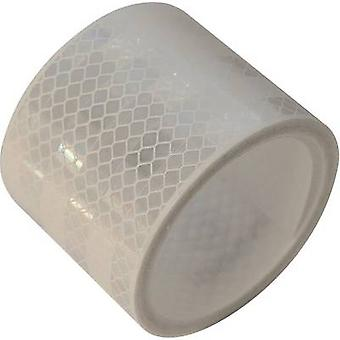 Reflective tape LAS 10216 10216 White (reflecting) 1 Rolls (L x W) 2 m x 50 mm Suitable for solid stuctures