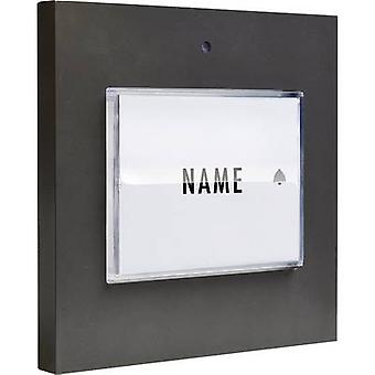 m-e modern-electronics 41050 Bell button backlit, with nameplate Detached Anthracite 8-24 V AC/DC/1 A