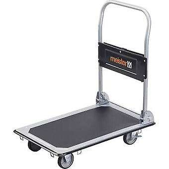 Meister Werkzeuge 8985530 Flatbed trolley folding, + compartment Steel Load capacity (max.): 150 kg