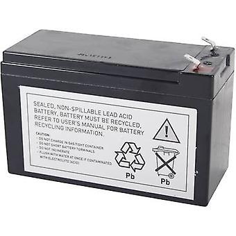 UPS battery Conrad energy replaces original battery RBC2, RBC110 Suitable for