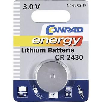 Button cell CR2430 Lithium Conrad energy CR2430 27