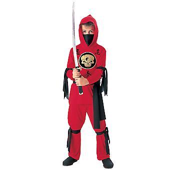 Stealth Ninja japansk krigare röd Mortal Kombat Karate bok vecka pojkar kostym