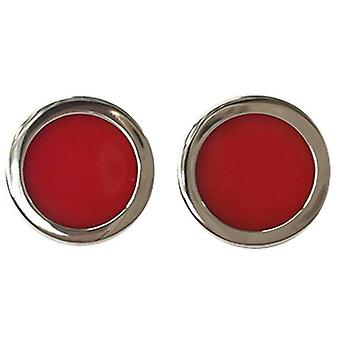Tyler and Tyler Two Tone Bold Cufflinks - Red/Gold
