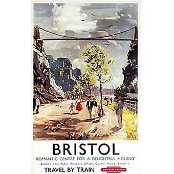 Bristol, Romantic Centre (Old Rail Ad.) Fridge Magnet