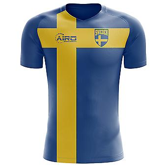 2018-2019 Zweden vlag Concept voetbalshirt (kinderen)