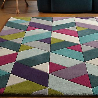 Funk Chevron Rugs In Blue And Green