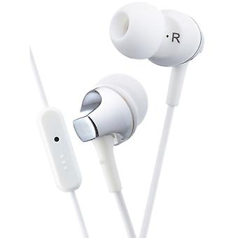 JVC HAFR325B Premium Sound In Ear Earphone with Remote & Mic - White