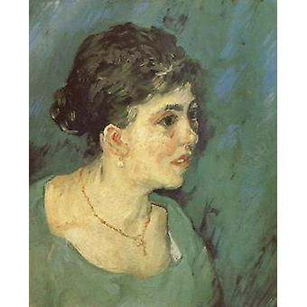 Portrait of a woman in Blue, Vincent Van Gogh, 46x38cm