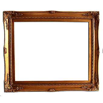 40 x 50 cm oder 16 x 20 Zoll, Bilderrahmen in gold